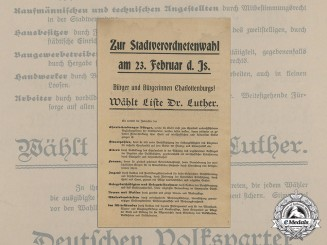 A 1919 Berlin Local Election Poster of the Zentrumspartei