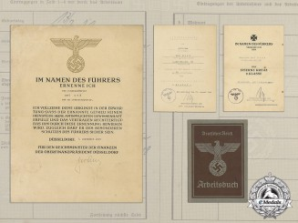 A Silver Grade Anti-Partisan Badge Award Document Grouping