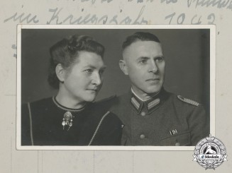 Germany, Heer. A Wartime Photo of a Sonderführer and Wife