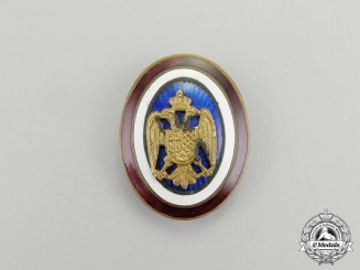 Yugoslavia, Kingdom. An Army Officer's Cap Badge