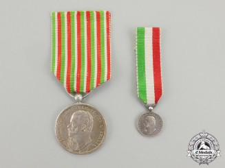Italy, Kingdom. An 1859 Italian Independence Medal with Miniature