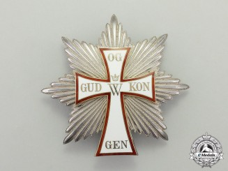 Denmark. An Order of Dannebrog, Grand Cross Breast Star (France Import)