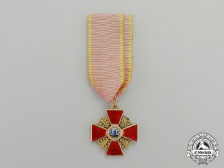 An Imperial Russian Order of St. Anne in Gold, 3rd Class, Civil Division