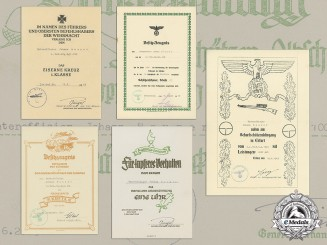The Documents of 5th Mountain Divison Sniper Johann Hauser; France, Poland & Kreta