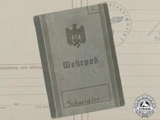 A Wehrpaß to Technician Gefreiter Erwin Schneidler