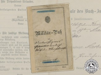 An Early Prussian 2nd Garde Ulanen (Guards Uhlan) Regiment Passport