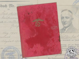 A 1934 NSDAP Membership ID booklet to Karl Müllenbach