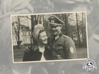 A Wartime Photo of an Oberleutnant with EK 1st Class & Demyansk Shield