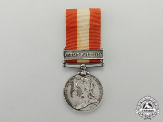 Canada. A General Service Medal, to Private John William Gorham, Halifax Volunteer Battalion