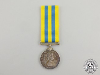A Canadian Korea Medal, to A.A. St. Jean
