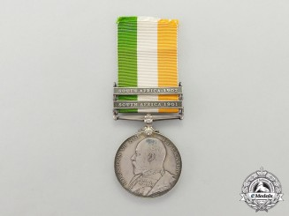 A British King's South Africa Medal, Un-named