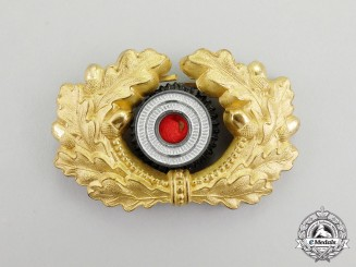 Germany, Wehrmacht. A Heer (Army) General's Visor Cap Oak Wreath & Cockade