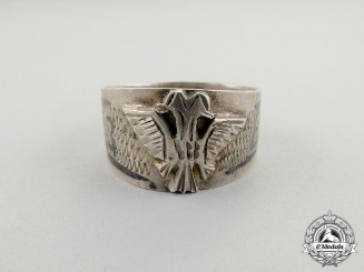 A Theatre Made 1943 Albanian - Elbasan Prefecture Campaign Ring