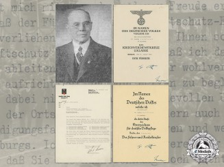 A Large Document Group with Important Signatures to German Red Cross Officer Generaloberarzt Ludwig Ruidisch