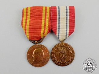 Norway, Kingdom. A Merchant Navy Medal Pair
