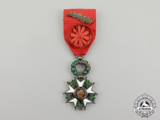 A French Order of the Legion of Honour, 4th Class, Officer, Model of the Third Republic (1870-1951)