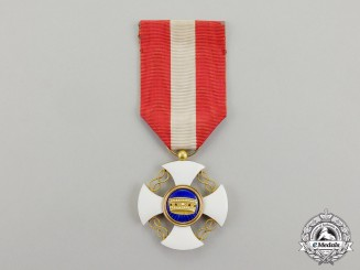 Italy. Order of the Crown; Knight's Cross in Gold