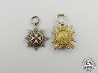 Serbia. Two Miniatures of the Order of Takovo