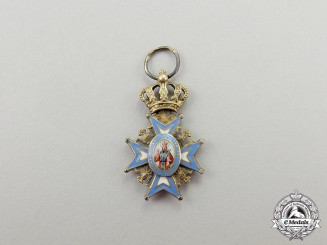 Serbia. A Miniature Order of St. Sava, Type I
