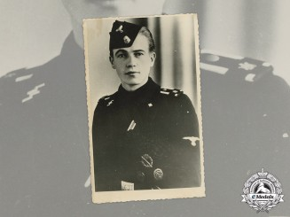 Germany. A Wartime Picture Postcard of an SS-Unterscharführer of LSSAH