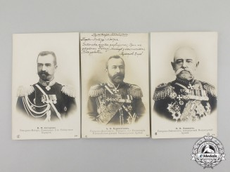 Russia, Imperial. Three Early Twentieth Century Military General Postcards