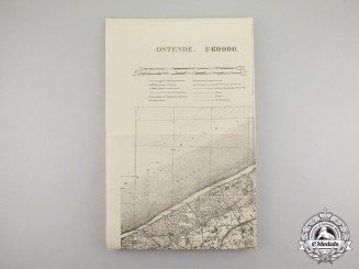 Germany, Imperial. A Royal Württemberg Ministry of War Map of Ostend, Belgium