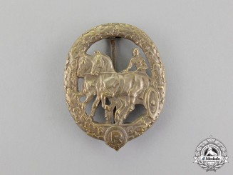 A German Horse Driver's Badge, Silver Grade