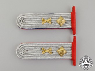 A Set of Luftwaffe Shoulder Boards, Oberleutnant der Reserve; Flak Artillery
