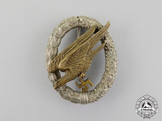 Luftwaffe. An Early Fallschirmjäger Badge by JMME & SOHN