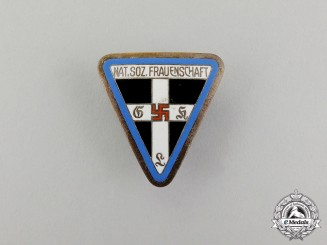 A 1938-1945  Orts Level National Socialist Women's League Membership Badge by Zimmermann