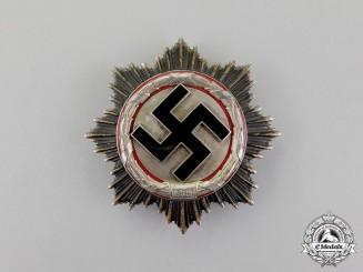 A Second War German Cross in Silver by Deschler & Sohn; Heavy Version