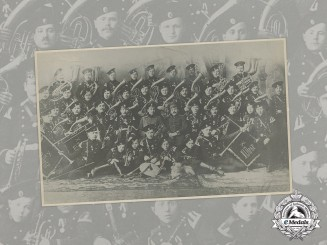 Russia Imperial. A Studio Portrait Photograph of a Military Band c.1905