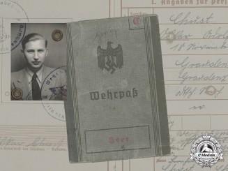 A Wehrpaß to Panzerobergrenadier Oskar Chust, KIA 1942 in Russia