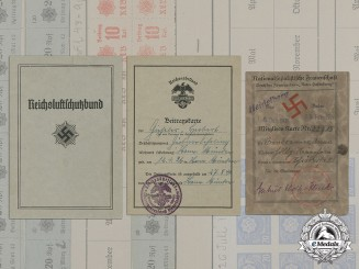 Germany. Three ID cards (RLB, Reichsnährstand, NS-Frauenschaft)