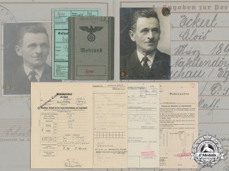 A Wehrpaß and Document Group to Sudetenland-born Gefreiter Alois Eckert
