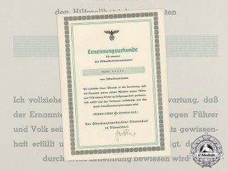A German Customs Appointment Certificate to Walter Bosse