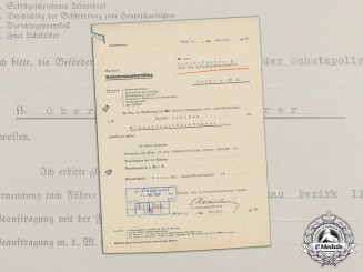 A Promotion Application Signed by SS-Gruppenführer Kaltenbrunner