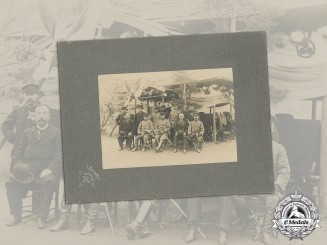 Japan. Japanese Army Officers and Officials Photograph Taken in Korea