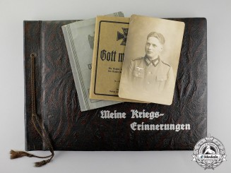 A Large Document Group; Occupation Denmark, Wounded in Belgium 1940, Crimea KIA