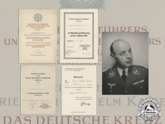 An Extensive Document Group to Luftwaffe Oberstleutnant Kaiser; DKS Recipient