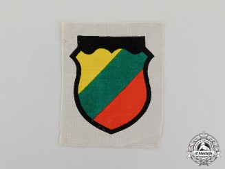 Germany. A German Army Foreign Army Volunteer (Lithuanian) Arm Shield