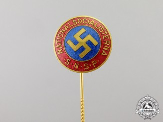 Sweden. A Member's Badge of the Swedish National Socialist Party SNSP