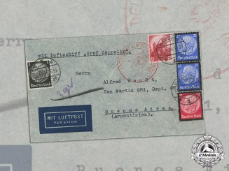 "Germany. A 1934 Envelope Sent by Airship ""Graf Zeppelin"" to Argentina"