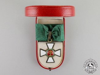 Hungary. An Order of Merit, 2nd Class Commander's Neck Badge (1935-1949), in Case of Issue