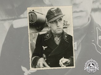 "Germany, Luftwaffe. A Wartime Photo of Karl Roßmann, Paratroop Panzer Regiment ""Göring"""