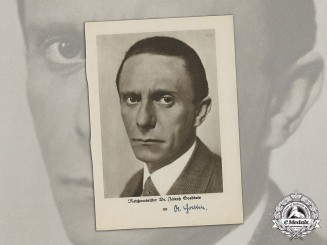 A Wartime Magazine Page Signed by Goebbels