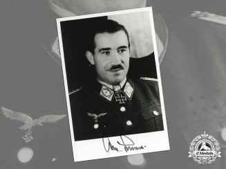 Germany, Luftwaffe. A Post War Signed Photo of Luftwaffe Ace General Galland