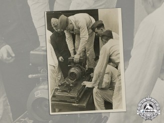 Germany, Luftwaffe. An Official Press Photo of Reconnaissance Camera Being Mounted