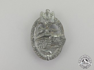 Germany. A Second War German Silver Grade Tank Badge by Rudolf Karneth
