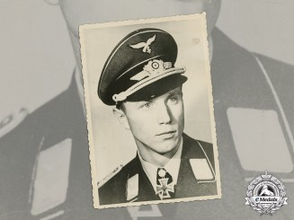 Germany. A Wartime Photo of Luftwaffe Ace Franz-Josef Beerenbrock